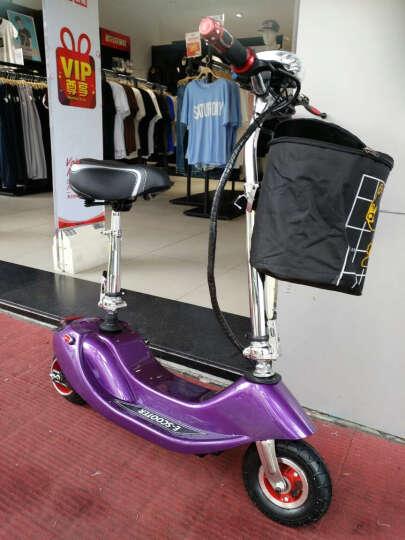 龙吟 女士迷你电动车 成人电动滑板车 小海豚电瓶车代步车 紫 +续航50km+五重好礼 晒单图