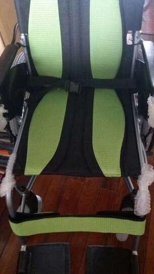 互邦轮椅 互邦电动轮椅车扶手脚踏可调节拆卸免维护电池铝合金可折叠老年人残疾人代步车 晒单图