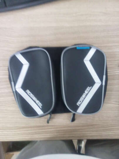 NE&CE BSK单车前横梁包上管包触屏手机包自行车骑行山地车马鞍包配件包 121273黑色(适合5.7寸手机) 晒单图