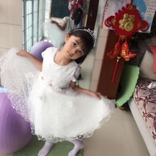皮皮班纳(PIPIBANNA) 中高端品质童装女童2018夏装新款吊带公主纱裙礼服连衣裙 白色 140码建议身高130cm 晒单图
