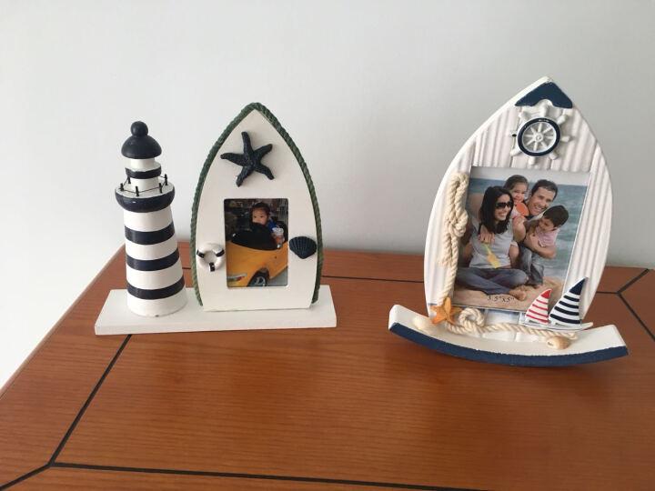 北朝情调 地中海创意5寸木制相框客厅床头卧室 复古手工DIY做旧个性木质相架摆台儿童房摆件 摇摆相框-海鸟款 晒单图