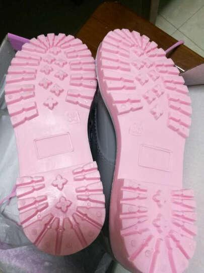 创意家居夏季时尚雨靴 韩版成人女士胶鞋马丁系带雨靴中筒雨鞋 透明绿底马丁 37 晒单图