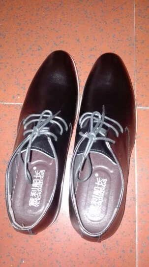 意利船长 男士皮鞋 男鞋男士正装鞋低帮潮流商务休闲鞋婚鞋英伦S-8233 S-8233黑色 44 晒单图