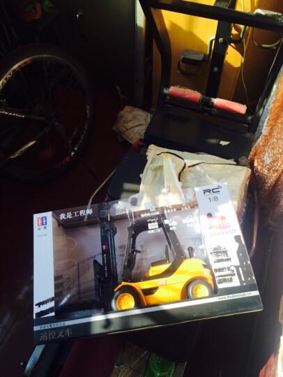 双鹰 遥控车大比例挖掘机工程车方向盘无线充电起重儿童电动玩具汽车生日节日礼物 手柄款遥控大卡车 晒单图