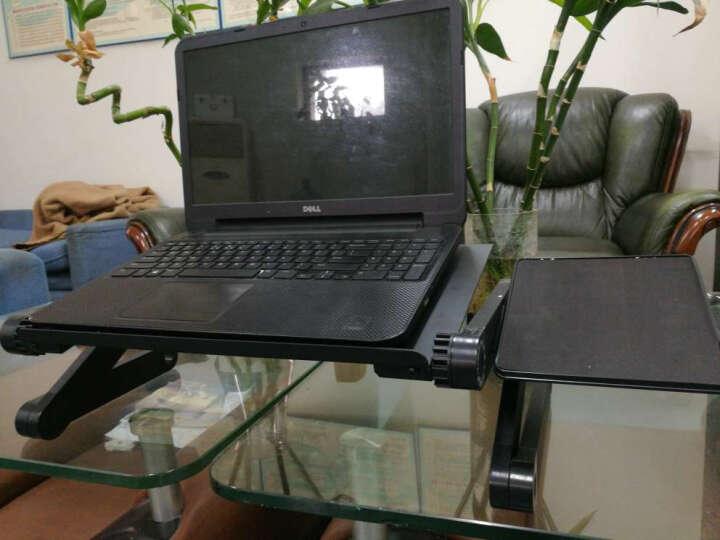 笔记本电脑桌床上桌子带风扇散热器折叠懒人铝合金电脑桌大号支架笔记本电脑桌床上桌子 酷黑标准带散热孔+鼠标板 晒单图