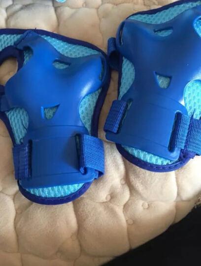 迪士尼(Disney)溜冰鞋儿童全套装轮滑鞋男女可调全闪光旱冰鞋滑冰鞋11006蓝色米奇(八轮全闪/含护具头盔)XS码 晒单图