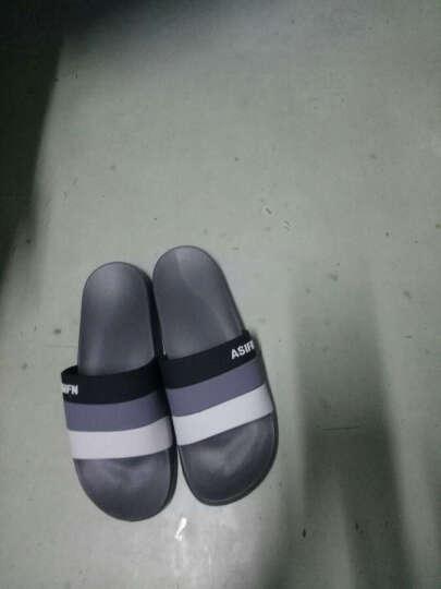 安尚芬 凉拖鞋男女家居防滑浴室凉鞋软底沙滩拖鞋 拼色灰色 270/42-43(适合41-42) 晒单图