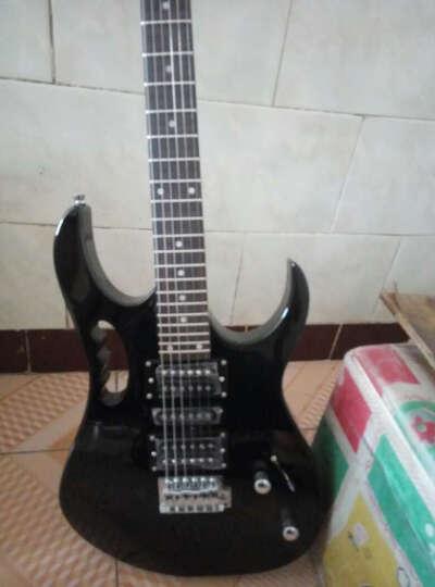 艾薇儿(Avril) 24品单摇电吉他手提新手初学入门演奏电吉他套装黑白色免费刻字货到付款 套餐五 电吉他+效果器音响一体机(颜色备注) 晒单图