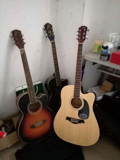 艾薇儿(Avril) 40寸41寸民谣吉他哑光黑色原木色初学者新手入门电箱免费刻字货到付款 41寸原木色电箱 晒单图