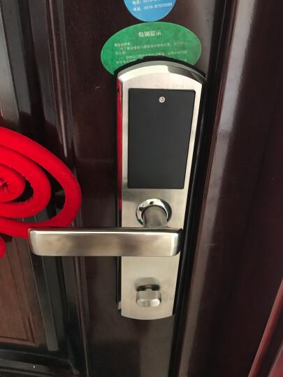 天龙品(tianlongpin) 天龙品指纹密码智能锁电子防盗门家用高端磁卡感应锁经典 指纹锁+密码+刷卡+遥控 下单请备注颜色 上门安装 晒单图
