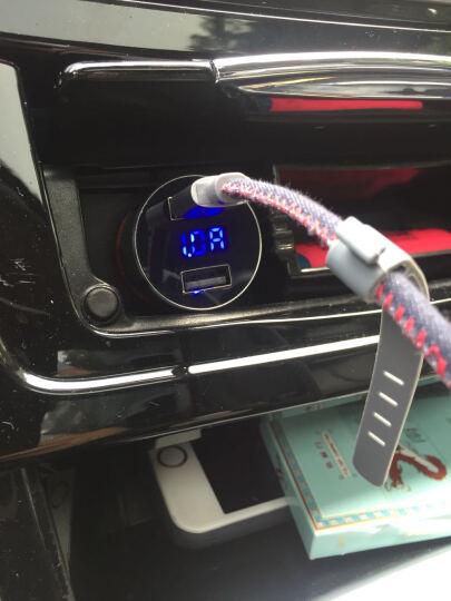 现代(HYUNDAI)车载充电器蓝牙mp3音乐播放器点烟器FM发射器蓝牙免提电话 HY36车充/蓝色 晒单图