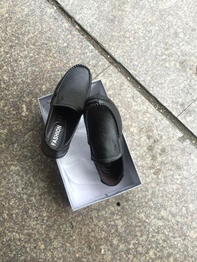 华洛威皮鞋 男新款真皮男士皮鞋中老年商务休闲棉鞋舒适爸爸鞋加棉老人正装皮鞋子 男 棕色加棉 40 晒单图