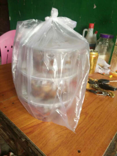 采易(MINING EASY) 一次性饭盒外卖打包盒塑料透明盒pp食品加厚快餐便当带盖 圆形一箱300套含盖 容量750ml 晒单图