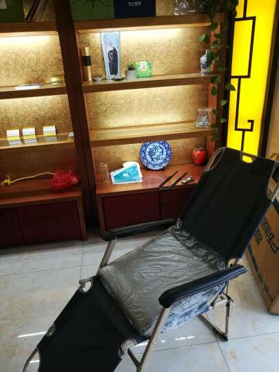 凯速折叠椅午睡陪护床坐躺椅床(单方管47cm宽+麂皮绒棉垫+眼罩防尘套)FC33菱灰色 晒单图