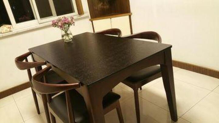 卡丽蒂 餐桌 大理石餐桌椅组合小户型实木饭桌 北欧火烧石 1.4米餐桌(不带餐椅) 晒单图