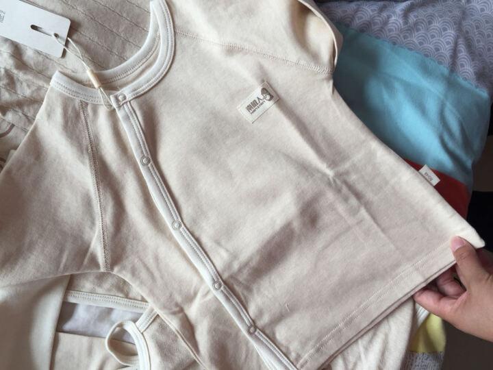 南极人(Nanjiren)【6款可选】婴幼儿背心短袖套装两件套彩棉男女萌宝夏季衣服新款 小牛 80CM(建议12-18个月 ,20-24斤宝宝) 晒单图