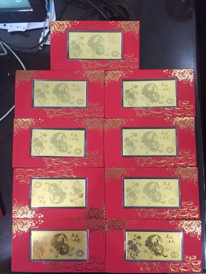 永隆金号鸡年金鸡贺岁黄金金条金钞1克 投资收藏足金999 (A款)红包利是包装 1g 晒单图