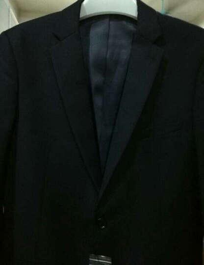 领般【沉稳睿智】CEO品质西服套装男士商务休闲修身西装男款职业正装西服男新郎结婚礼服 绅士黑色 单西服52码 晒单图