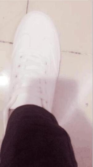 皓顿(HAUT TON)休闲鞋男鞋新品夏季韩版板鞋时尚透气小白鞋子男 XB068白色 43 晒单图
