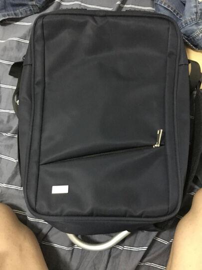 高尔夫GOLF电脑包防泼水商务男士双肩包15.6英寸笔记本包USB接口手提电脑背包男书包 灰色 晒单图
