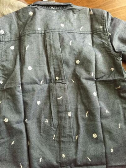 巴拉巴拉童装男童长袖衬衫中大童上衣秋装新款小孩儿童衬衣男 蓝白色 160 晒单图