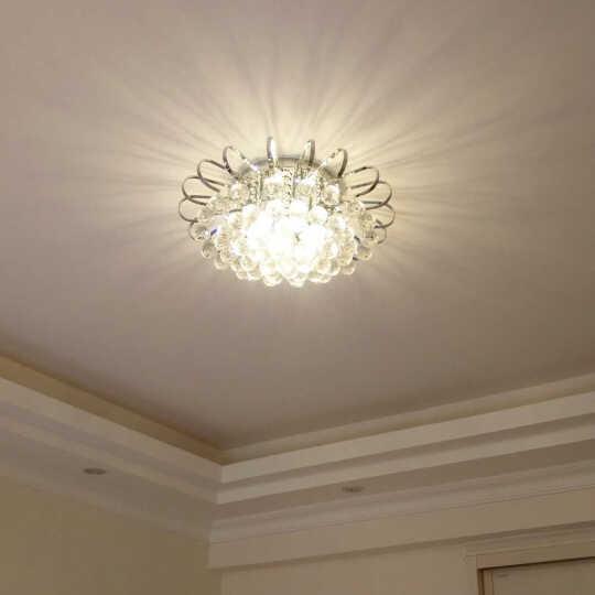 波西尔 简约欧式客厅水晶灯圆形大气豪华 地中海卧室吸顶灯 现代餐厅LED灯饰入户门厅灯 8250 直径80cm 带遥控 带 LED 暖光灯泡 晒单图