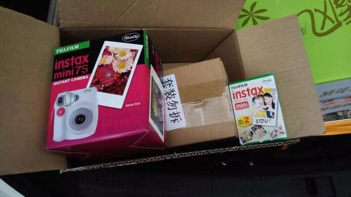 富士(FUJIFILM)拍立得mini7s相机奢华套餐 甜蜜金属粉(10张胶片) 晒单图