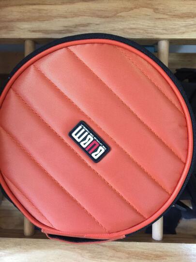 BUBM英伦风专业DJ碟包可爱高品质车载CD包DJ碟包CD收纳32片盒 圆形 橙色 晒单图
