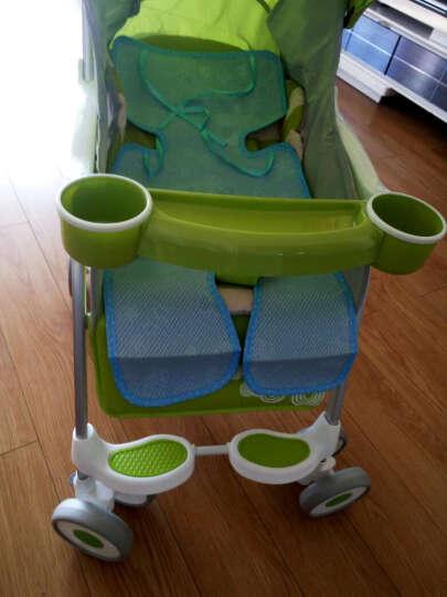鑫贝婴儿推车超轻便可坐可躺婴儿伞车便携式夏季旅游透气四轮避震宝宝手推车 自带餐盘 绿色 晒单图