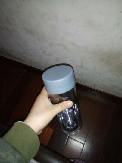 私家良品 双层塑料水杯便携防漏运动随手杯子带茶隔 灰 晒单图