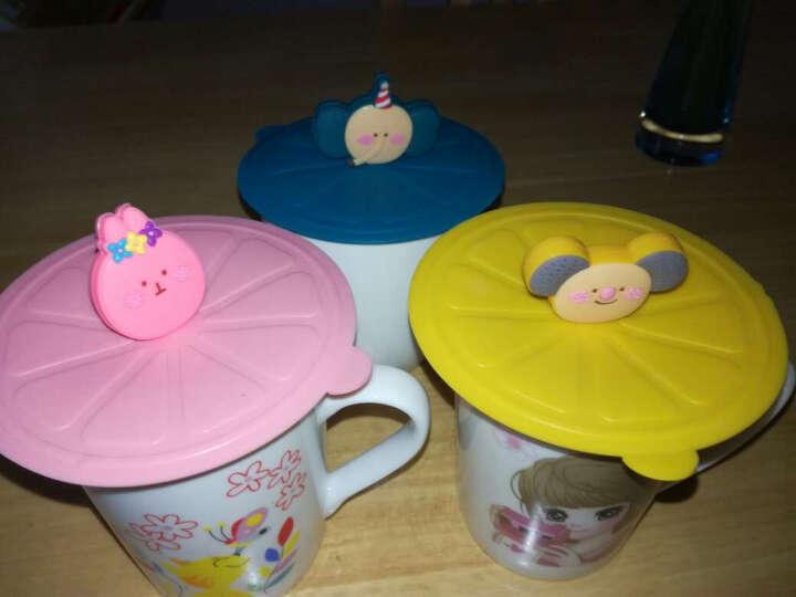 家英 创意防漏水杯盖 硅胶盖子 密封盖 魔术硅胶杯盖 粉色 晒单图