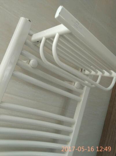 艾芬达 智能电热毛巾架  电加热衣物烘干架智能温控系统浴室防潮UK01 喷涂80*45cm+置物架 晒单图