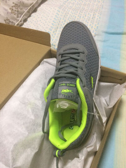 卡帝乐鳄鱼(CARTELO) 2017新款男士休闲鞋男鞋 透气跑鞋韩版运动板鞋 鞋子男款 KDL687蓝色 42 晒单图