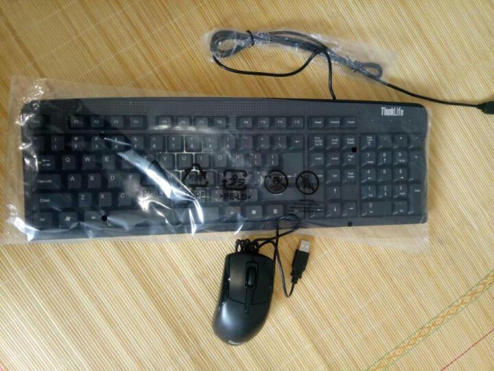 【包邮】联想Thinkpad原装有线USB键盘 笔记本台式机一体机办公外接U口方口键鼠套装 商务办公键盘鼠标套装 晒单图