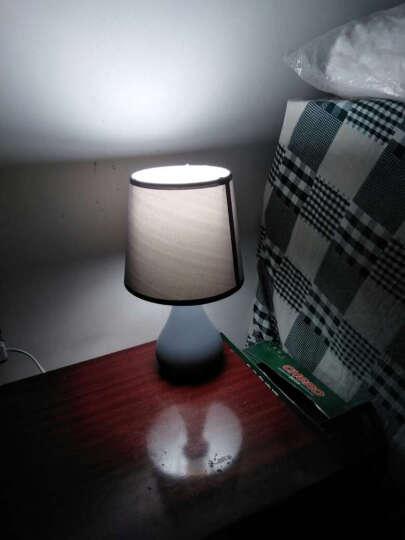 盏爱马卡龙粉色台灯卧室床头灯创意简约现代陶瓷灯具 北欧式温馨公主暖光小夜灯 马卡龙大号灰色+LED三档调光灯泡 晒单图