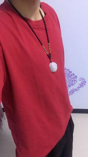 设计师潮牌男港风原创夏装日系纯色潮休闲圆领短袖T恤宽松情侣蝙蝠袖半袖上衣 黑色 XL 晒单图
