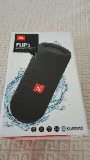 美国直邮 JBL FLIP3 便携式蓝牙扬声器无线蓝牙串流可同时无线连接三部智能机 多彩 蓝色便携式蓝牙音箱 晒单图
