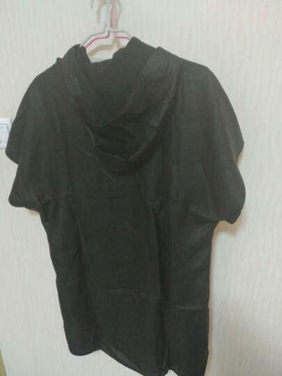 归心t恤男短袖夏季设计师原创中国风男装桑蚕丝香云纱男士连帽T恤 黑色 170/M 晒单图