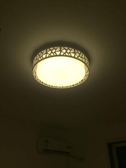 POG 圆形吸顶灯客厅led卧室简约现代客厅灯长方形创意卧室灯具大气 花瓣灯52*52CM三色温36W 晒单图