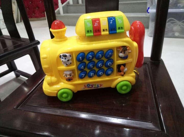 迪邦 益智音乐火车电话玩具配学习书页灯光效果拖拉电话车益智宝宝启蒙音乐琴儿童玩具礼物 红色 晒单图