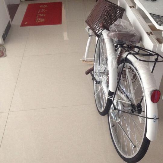 凤凰(Phoenix) 城市自行车轻便通勤自行车女式学生男女复古公主淑女单车 24寸芭蕾 白色 晒单图