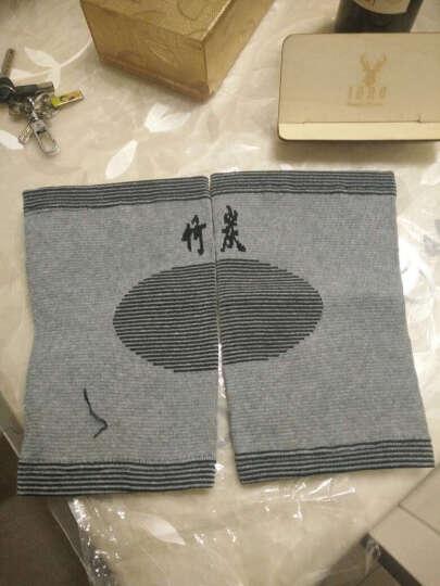 麦道(maidao) 麦道竹炭护膝运动登山空调长款护膝保暖男女通用老人关节膝盖护具秋冬轻薄一对装 加长加绒加厚款 晒单图
