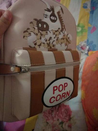 不莱玫新款包包女夏双肩包韩版背包书包小清新 爆米咖 晒单图