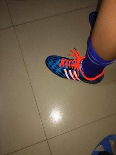 豹步足球鞋新款男子AG长钉鞋比赛用鞋传奇儿童训练鞋刺客防水皮足 蓝色 38 晒单图