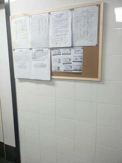 美斯特60*90木框软木板照片墙留言板告示板图钉挂板公告栏水松板 晒单图
