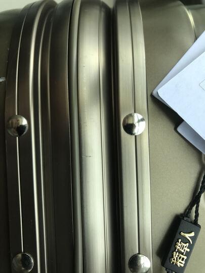 稻草人旅行箱 2017秋冬新品 万向轮20寸/24寸铝框行李箱拉杆箱潮 玫瑰金 24寸单节拉杆 晒单图