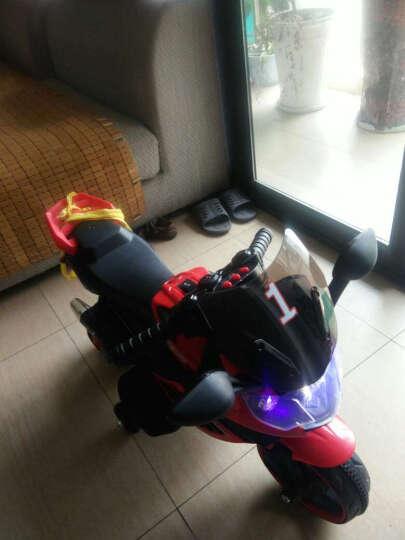 宝贝虎 儿童电动车儿童电动摩托车三轮车小孩可坐玩具车男女宝宝婴儿电瓶车可充电童车 顶配红色+灯光+自驾+音乐早教 晒单图