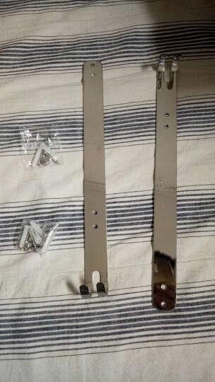 杰沙朗不锈钢置物架浴室挂件毛巾架卫生间玻璃卫浴置物架五金壁挂件 1317三层台板带钩 610MM 晒单图