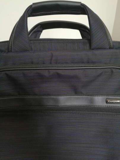 卡拉羊(Carany)公文包男商务笔记本手提包14吋电脑包单肩斜挎包CS1328黑色 晒单图