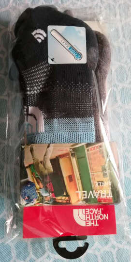 TheNorthFace北面夏季吸湿排汗舒适户外男女通用运动袜|2XY8 DGP/灰色/浅灰 24~26cm/M 晒单图
